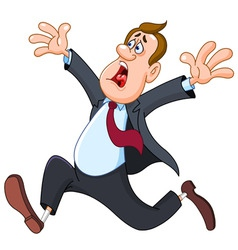 panicked businessman vector image