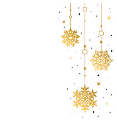 pattern gold decorative garland of snowflakes on vector image