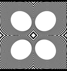 Pattern with mirrored ovals ellipses abstract vector