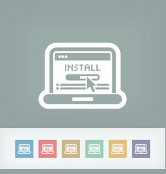 pc install icon vector image