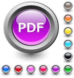 PDF round button vector