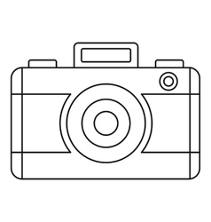 Photo camera icon outline style vector