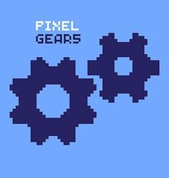 Pixel Gears vector image