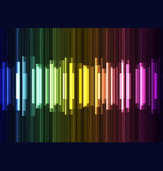 rainbow wave overlap in dark background vector image