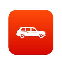 retro car icon digital red vector image