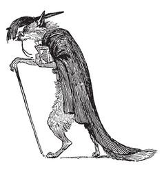 reynard the fox reynards father vintage vector image