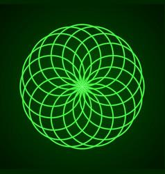 sacred geometry symbol of harmony vector image