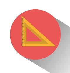 School ruler graphic vector