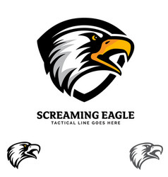 screaming eagle insignia vector image