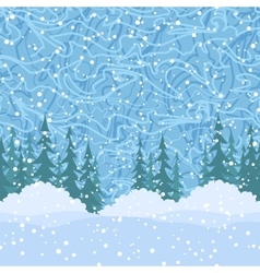 Seamless Christmas Trees and Snow vector