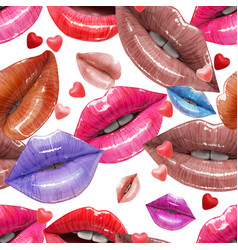 Seamless pattern made of sexy lips vector