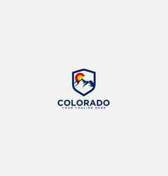 secure mountain logo colorado mountain badge vector image