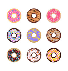set donuts image vector image