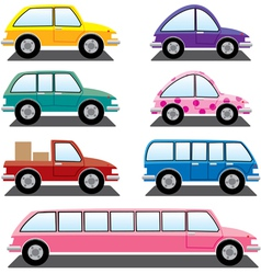 Set of colorful cars vector