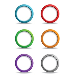 Set of colorful simple buttons vector