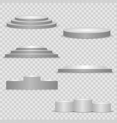 set pedestal podium and platform vector image