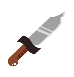 Short knife creative and cartoon vector
