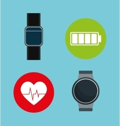 Smartwatch wearable technology icon image vector