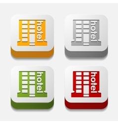 square button hotel vector image