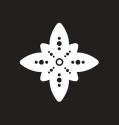 Stylish black and white icon indian symbol vector