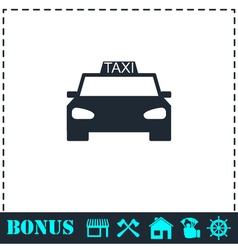 Taxi car icon flat vector