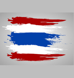 Thailand flag official colors and proportion vector