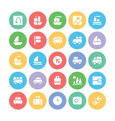 Travel Icons 2 vector image