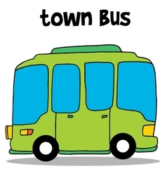 Trnsportation of town bus vector image