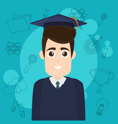 university student cartoon vector image