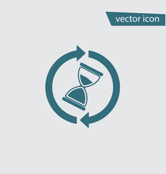 Wait time icon hourglass clock modern sim vector