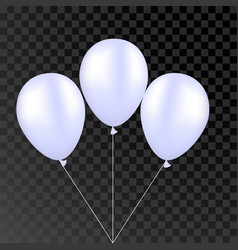White balloon on a transparent background vector