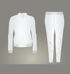 White woman tracksuit set vector