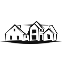 with a concept of real estate vector image