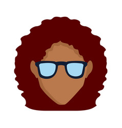 Woman with glasses vector