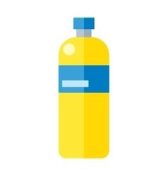 Yellow Plastic Bottle vector