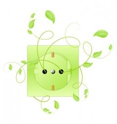 eco energy symbol vector image vector image