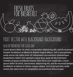 fruit hand drawn template in flat linear vector image