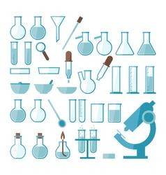 laboratory equipment set vector image