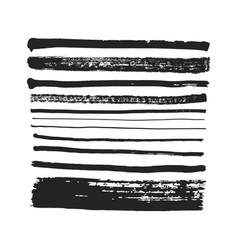 Brush strokes set vector