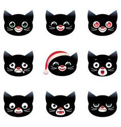 Cartoon smilies cats vector image