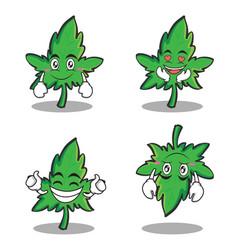 collection set of marijuana character cartoon vector image vector image