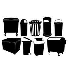 garbage bins vector image