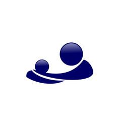 parent care logo vector image