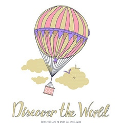 Discover the world vector image vector image