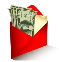 dollar gift vector image vector image