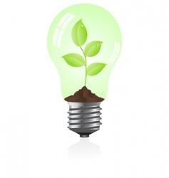 eco light bulb vector image vector image