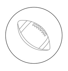 Rugby ball icon outline single sport icon from vector