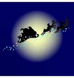 Santa Silhouette vector image