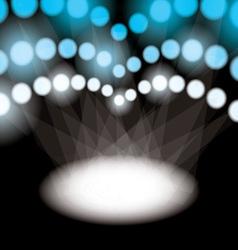 stadium spotlights vector image vector image