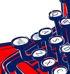 typewriter keyboard vector image